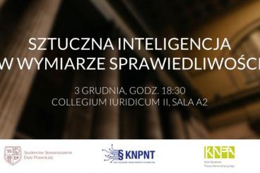 Sztuczna inteligencja w wymiarze sprawiedliwości - 3.12.2019