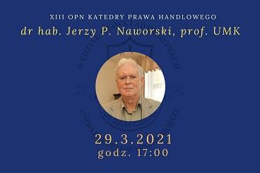 XIII OPN Katedry Prawa Handlowego - 29.03