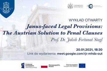 Wykład otwarty Prof. Dr. Jakoba Fortunata Stagla - 20.01