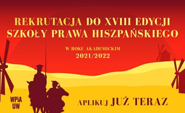 Ostatnie wolne miejsca do XVIII Edycji Szkoły Prawa Hiszpańskiego