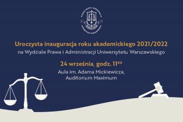 Uroczysta Inauguracja Roku Akademickiego 2021/2022